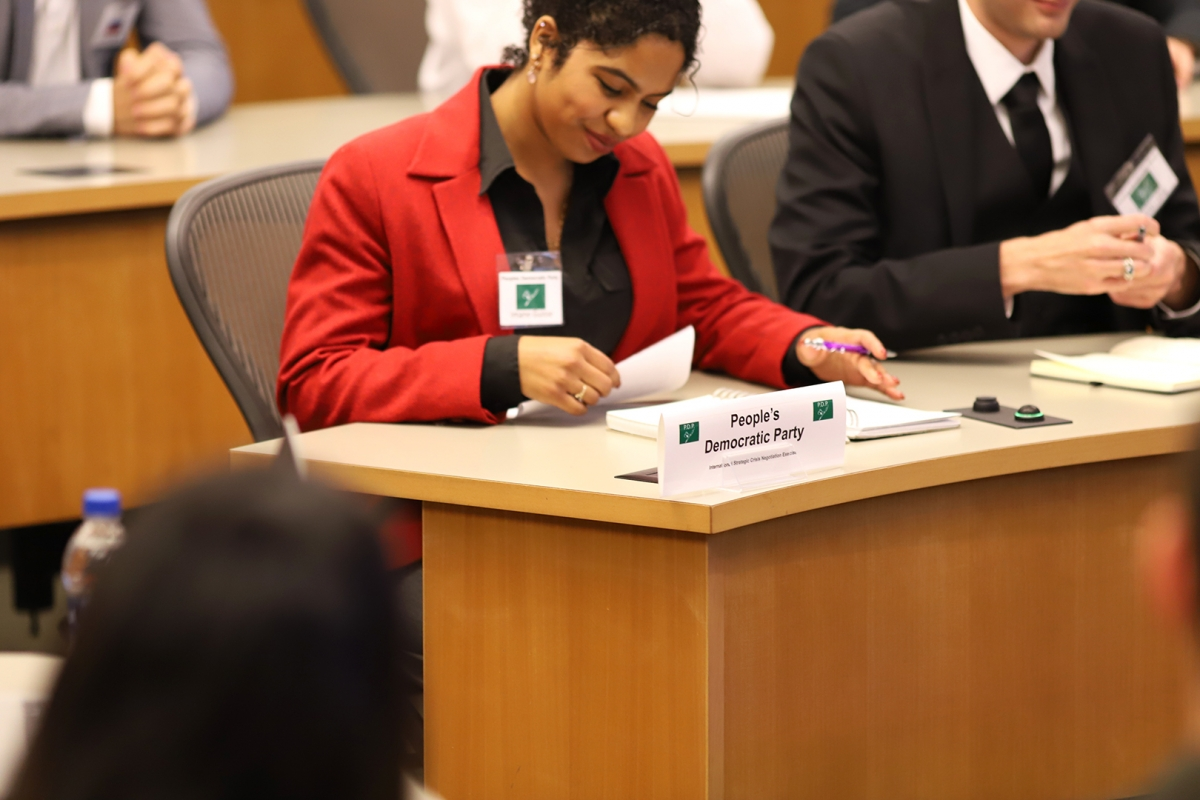 SIA student Imane Guisse took on the role of head of delegation for the People's Democratic Party (PDP)