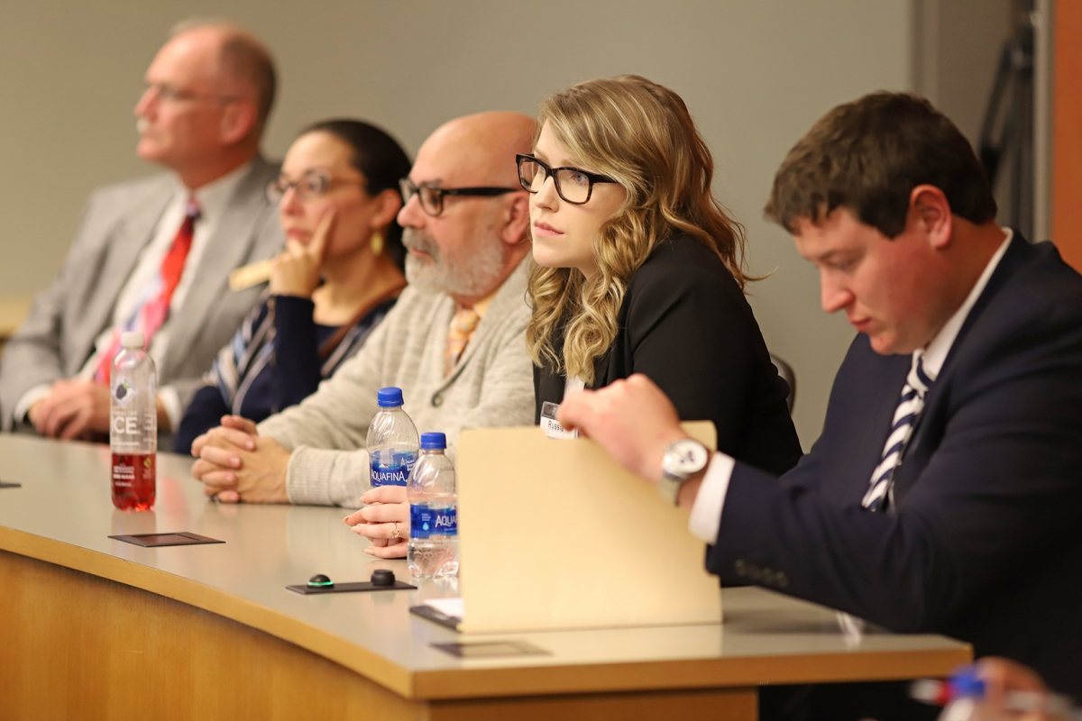 SIA alumna Sarah Fusco ('19) served as a mentor during the 2019 crisis simulation