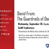 "Flyer for David Frum's ""Guardrails of Democracy"" event"