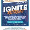 Flyer promoting the 2018 Ignite Retreat