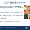 JLIA Speaker Series with Professor Houck