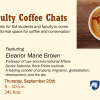 Flyer for the SIA Coffee Chat with Eleanor Brown