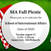 Flyer for the SIA 2018 Fall Picnic