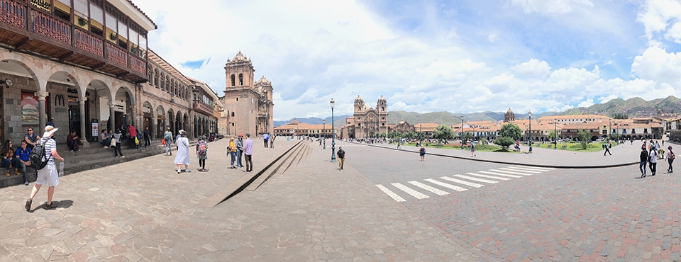 Panorama view of Cusco