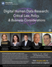 Flyer for the Digital Human Data Research event