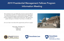 PMF info session flyer