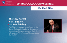Colloquium Series - Paul Pillar