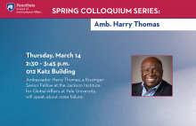 Colloquium Series - Harry Thomas
