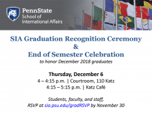 SIA fall 2018 graduation reception
