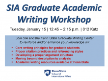 SIA Graduate Writing Workshop