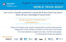 World Trivia Night flyer